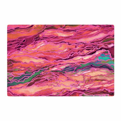 Ebi Emporium Marble Idea Miami Heat Pink/Balck Area Rug Rug Size: 2 x 3