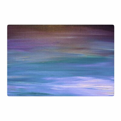 Ebi Emporium Resonance 1 Painting Blue/Lavender Area Rug Rug Size: 2 x 3