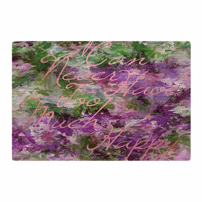 Ebi Emporium Too Much Happy 9 Painting Purple/Green Area Rug Rug Size: 4 x 6
