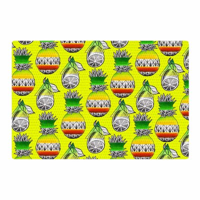 Ivan Joh Fruit Illustration Green/Yellow Area Rug Rug Size: 4 x 6