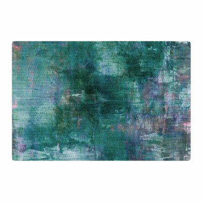 Ebi Emporium Blue Planet Painting Teal/Blue Area Rug Rug Size: 4 x 6