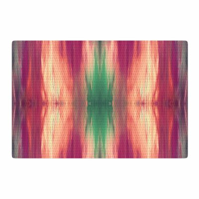 Ebi Emporium Butterfly Tribal 2 Painting Magenta/Green Area Rug Rug Size: 2 x 3