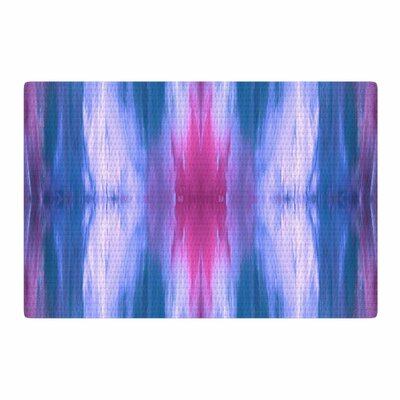 Ebi Emporium Butterfly Tribal 3 Painting Blue/Magenta Area Rug Rug Size: 2 x 3
