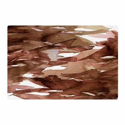 Ebi Emporium Fervor 7 Watercolor Brown/Tan Area Rug Rug Size: 2 x 3