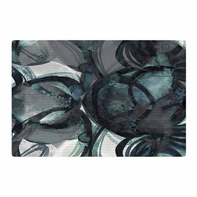 Ebi Emporium Final Eclipse 1 Teal Painting Teal/Gray Area Rug Rug Size: 2 x 3