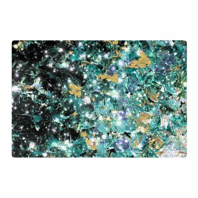 Ebi Emporium Minty Way Painting Green/Teal Area Rug Rug Size: 2 x 3