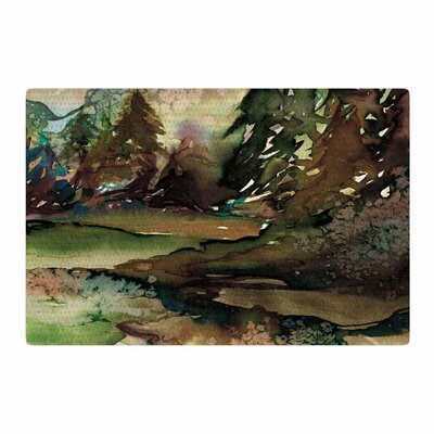 Ebi Emporium Never Leave The Path 1 Watercolor Brown/Olive Area Rug Rug Size: 2 x 3