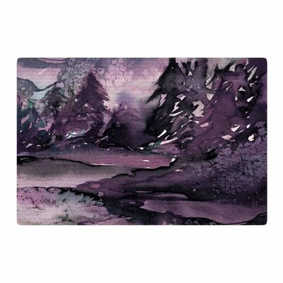 Ebi Emporium Never Leave The Path 6 Watercolor Purple/Black Area Rug Rug Size: 4 x 6