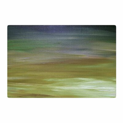 Ebi Emporium Resonance 2 Painting Olive/Blue Area Rug Rug Size: 4 x 6