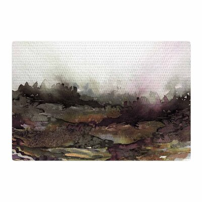 Ebi Emporium The Long Road 1 Watercolor Maroon/Olive Area Rug Rug Size: 2 x 3