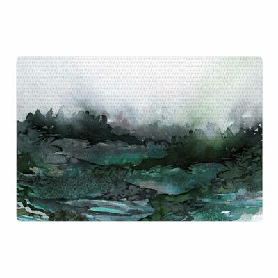 Ebi Emporium The Long Road 2 Watercolor Teal/Green Area Rug Rug Size: 4 x 6