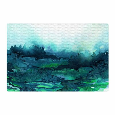 Ebi Emporium The Long Road 7 Watercolor Teal/Green Area Rug Rug Size: 2 x 3