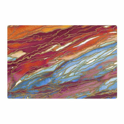Ebi Emporium Agate Magic Watercolor Orange/Blue Area Rug Rug Size: 4 x 6