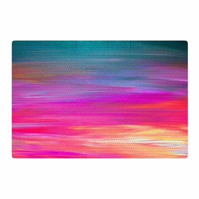 Ebi Emporium Bright Horizons 2 Painting Magenta Area Rug Rug Size: 2 x 3
