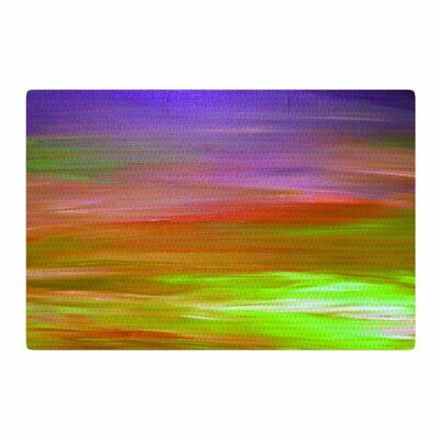 Ebi Emporium Bright Horizons 5 Painting Orange Area Rug Rug Size: 2 x 3