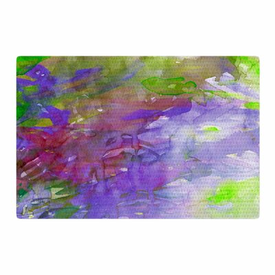 Ebi Emporium Carnival Dreams 5 Watercolor Purple/Lavender Area Rug Rug Size: 2 x 3