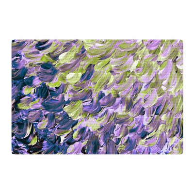 Ebi Emporium Frosted Feathers Painting Purple/Lavender Area Rug Rug Size: 4 x 6