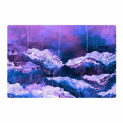 Ebi Emporium Its A Rose Colored Life 7 Painting Purple/Blue Area Rug Rug Size: 2 x 3