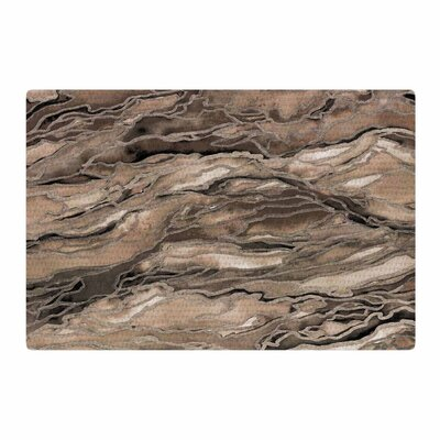 Ebi Emporium Marble Idea Rustic Elements Watercolor Brown/Beige Area Rug Rug Size: 4 x 6