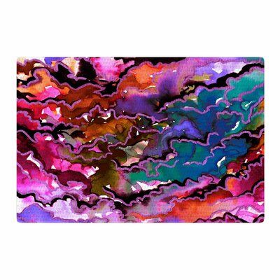 Ebi Emporium Radiant Skies Painting Teal/Purple Area Rug Rug Size: 4 x 6