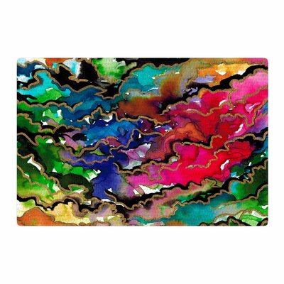 Ebi Emporium Summer Swells Watercolor Magenta/Green/Blue Area Rug Rug Size: 4 x 6