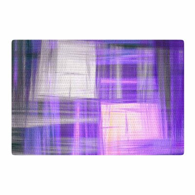 Ebi Emporium Tartan Crosshatch 2 Painting Purple/Black Area Rug Rug Size: 4 x 6