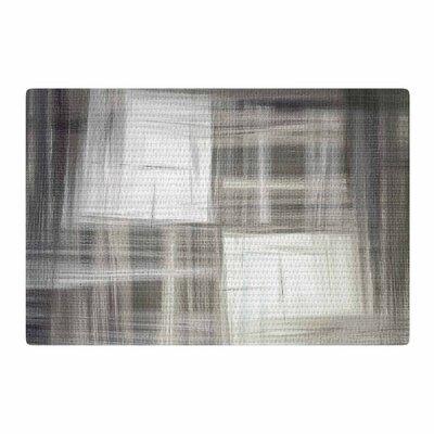 Ebi Emporium Tartan Crosshatch Grayscale Painting Gray/Black Area Rug Rug Size: 4 x 6