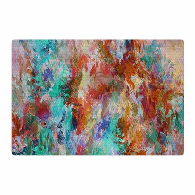 Ebi Emporium The Nexus 1 Painting Orange/Aqua Area Rug Rug Size: 4 x 6