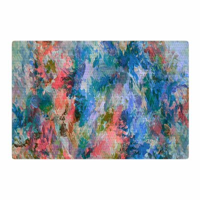 Ebi Emporium The Nexus 2 Painting Blue/Coral Area Rug Rug Size: 4 x 6