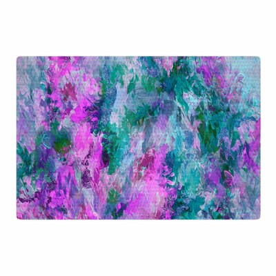 Ebi Emporium The Nexus 5 Painting Teal/Pink Area Rug Rug Size: 2 x 3