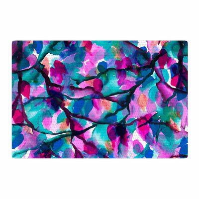 Ebi Emporium By Any Other Name 1 Watercolor Magenta/Teal Area Rug Rug Size: 2 x 3