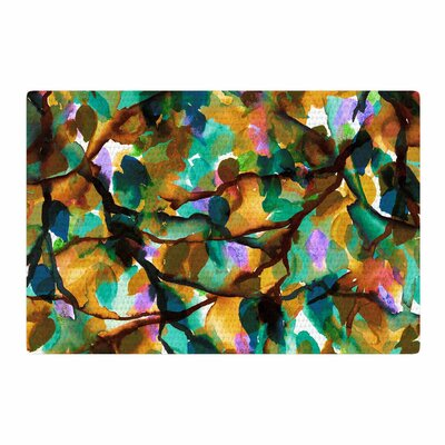 Ebi Emporium By Any Other Name 5 Watercolor Tan/Teal Area Rug Rug Size: 4 x 6