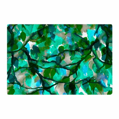 Ebi Emporium By Any Other Name 6 Watercolor Green/Teal Area Rug Rug Size: 4 x 6