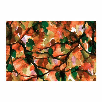 Ebi Emporium By Any Other Name 7 Watercolor Orange/Green Area Rug Rug Size: 2 x 3
