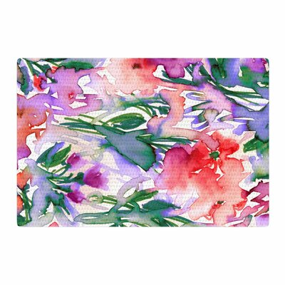 Ebi Emporium Floral Destiny 8 Watercolor Red/Lavender Area Rug Rug Size: 2 x 3
