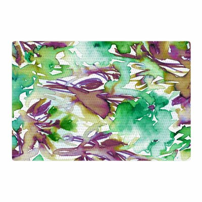 Ebi Emporium Floral Destiny 9 Watercolor Green/Purple Area Rug Rug Size: 2 x 3