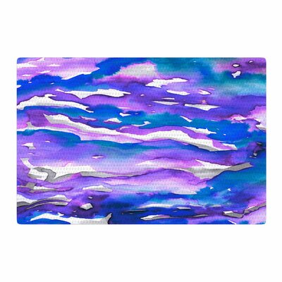 Ebi Emporium Flutter Watercolor Blue/Purple Area Rug Rug Size: 2 x 3