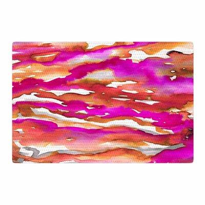 Ebi Emporium Flutter Watercolor Magenta/Coral Area Rug Rug Size: 2 x 3