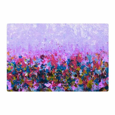 Ebi Emporium Natures Living Room Purple Painting Pink/Blue Area Rug Rug Size: 2 x 3
