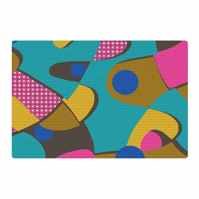 Jacqueline Milton Free-Form Vector Teal Area Rug Rug Size: 2 x 3
