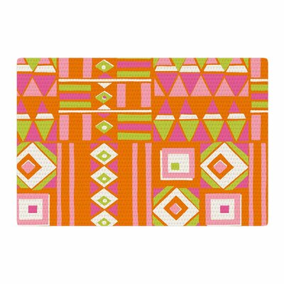 Jacqueline Milton Heatwave Hot Illustration Orange/Pink Area Rug Rug Size: 2 x 3