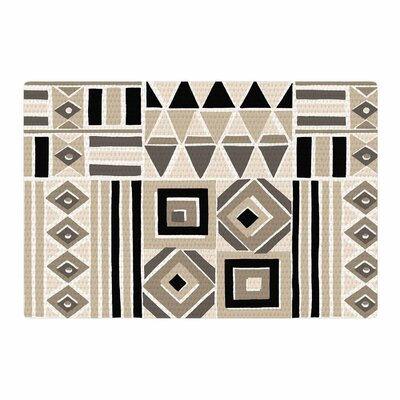Jacqueline Milton Heatwave Latte Illustration Beige/Brown Area Rug Rug Size: 4 x 6