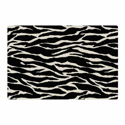 Jacqueline Milton Safari Mixed Media Black/Beige Area Rug Rug Size: 2 x 3