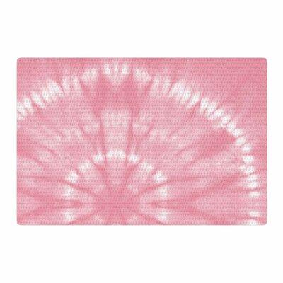 Jacqueline Milton Shibori Circles Candy Mixed Media Pink Area Rug Rug Size: 2 x 3