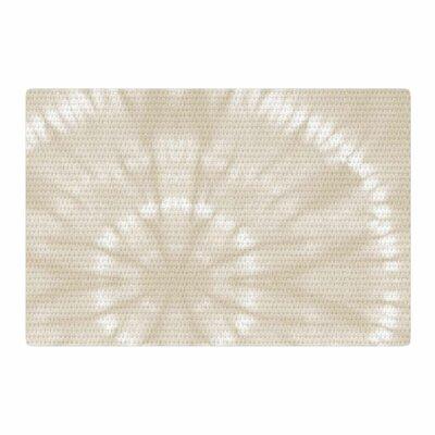 Jacqueline Milton Shibori Circles Pastel Mixed Media Latte/Beige Area Rug Rug Size: 4 x 6