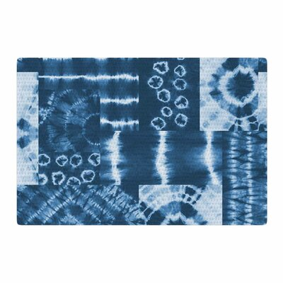 Jacqueline Milton Shibori Patchwork Abstract Mixed Media Indigo/Blue Area Rug Rug Size: 2 x 3