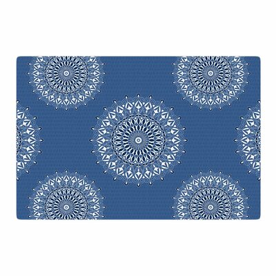 Julia Grifol Harmony Digital Blue/White Area Rug Rug Size: 4 x 6
