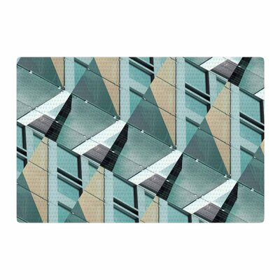 Tiny September Diagonal Arrows Photography Beige/Blue Area Rug Rug Size: 4 x 6
