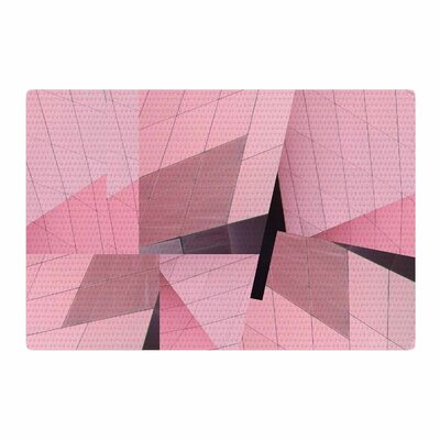 Tiny September Flamingo Digital Pink/Black Area Rug Rug Size: 2 x 3