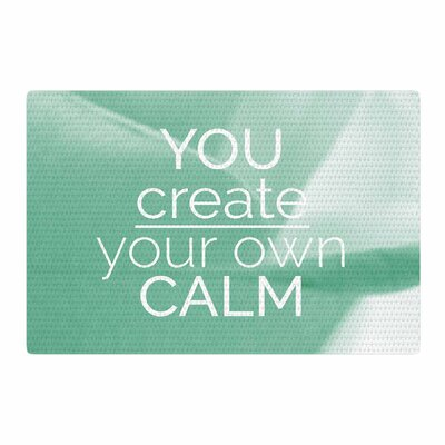 Tiny September You Create Your Own Calm Photography Pastel/White Area Rug Rug Size: 2 x 3